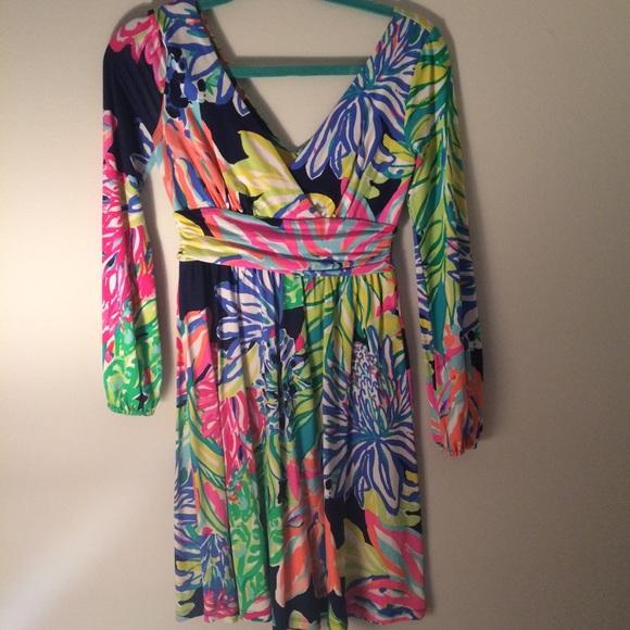 72afef78c45220 Lilly Pulitzer Dresses | Fleur Dress In Travelers Palm | Poshmark